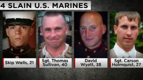 4 slain marines